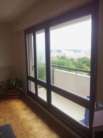Remplacement de 2 baies vitrées avec un porte d'accès sur balcon - Apartement en étage à Montreuil (93)