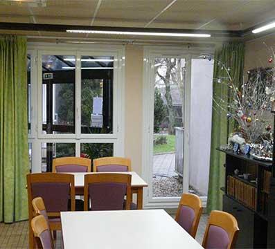 Remplacement de la totalité des fenêtres, porte fenêtre et volets d'une maison de retraite à Nangis (77).